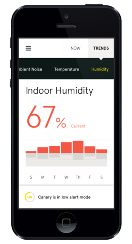Besides unusual activity, Canary can also track temperature, humidity, and air quality for full control over the environment at home