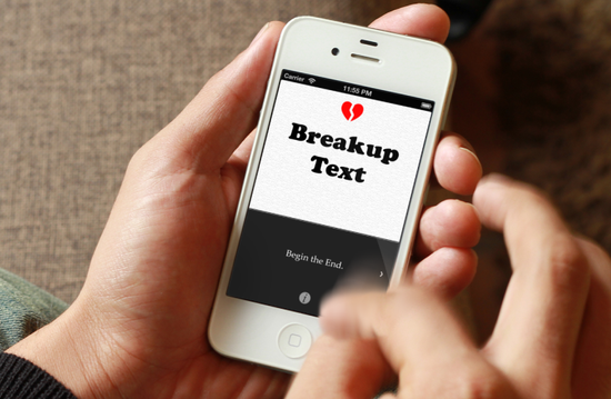 BreakupText, an iPHone app that composes breakup text messages for you