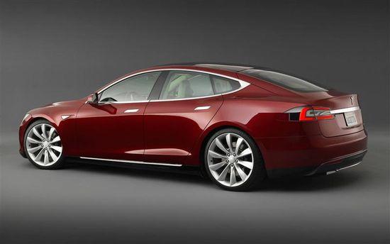 Tesla Motors Model S sedan A