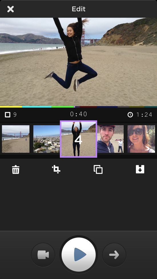 MixBit provides simple editing tools to give your finished video a professional look without a lot of fuss