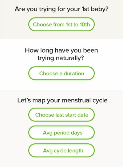 Glow app then asks users a series of questions