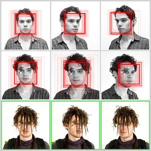 In a project called 'CV Dazzle,' Harvey used makeup and hairstyles to confuse face-recognition technology