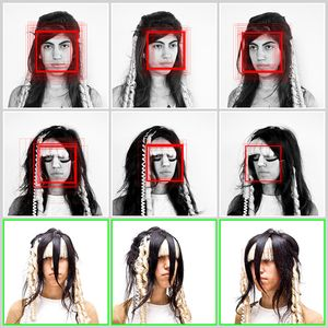 Harvey writes on his website, 'The goal of this ongoing research project is to create a growing catalog of designs that can be employed as camouflage from face detection, both physically and digitally.'