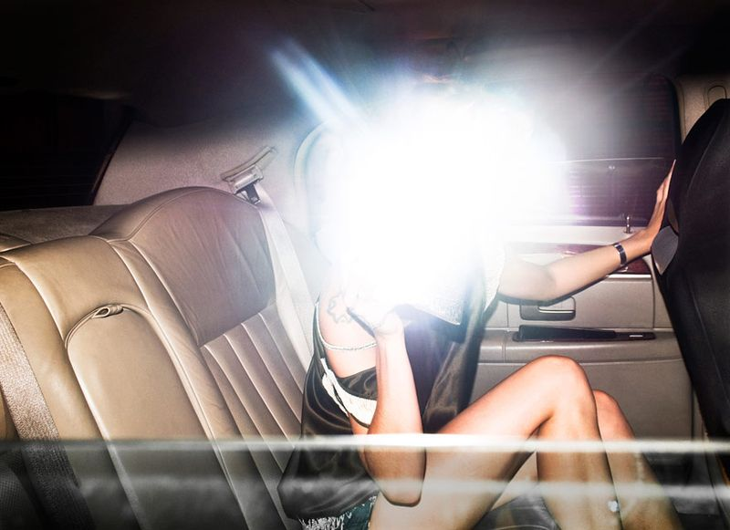 When triggered by a flashing camera, the anti-paparazzi clutch sets off a photo-ruining flash of its own