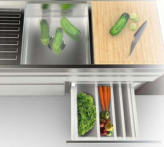 'The kitchen is sort of disappearing,' Lenzi says, at least in the sense of a territorially bounded space. 'Kitchen appliances need to become part of that overall connected system.'