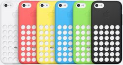 The iPhone 5C also comes with silicon back covers with microfiber linings that come in six colors -- white, red, yellow, blue, green and black A