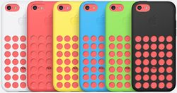 The iPhone 5C also comes with silicon back covers with microfiber linings that come in six colors -- white, red, yellow, blue, green and black B