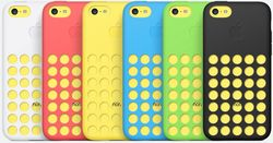 The iPhone 5C also comes with silicon back covers with microfiber linings that come in six colors -- white, red, yellow, blue, green and black C