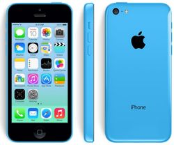 The iPhone 5C has a polycarbonate wrap-around back that will come in five colors -- green, white, blue, red, and yellow B