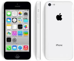 The iPhone 5C has a polycarbonate wrap-around back that will come in five colors -- green, white, blue, red, and yellow F