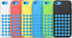 The iPhone 5C also comes with silicon back covers with microfiber linings that come in six colors -- white, red, yellow, blue, green and black D