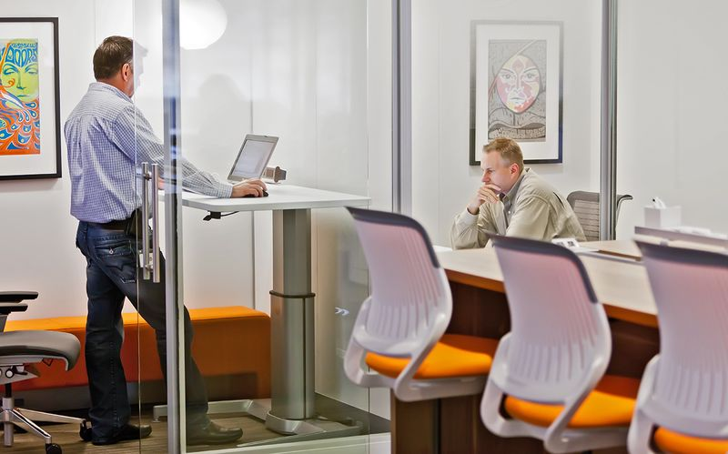 Steelcase workers take advantage of quiet spots for focused work