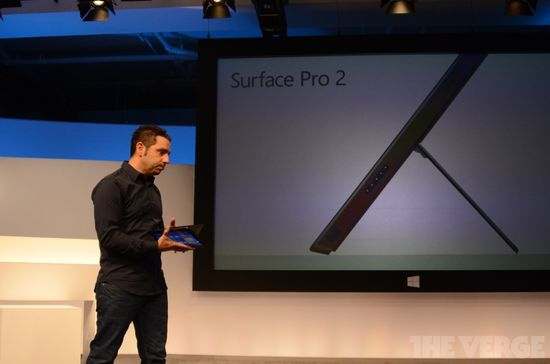 The Microsoft Surface Pro 2 tablet with kickstand
