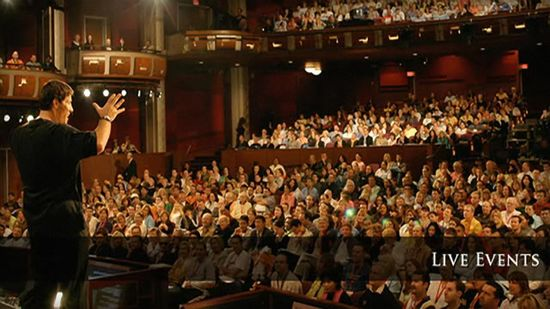 Anthony Robbins seminars are known for their loyal and boisterous audiences