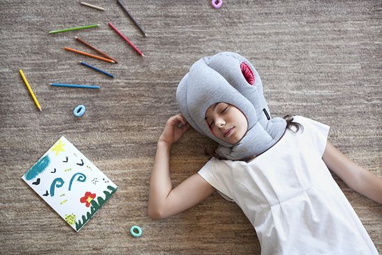 The Junior model is a recent addition. It re-creates the form and function of the original Ostrich Pillow, only smaller