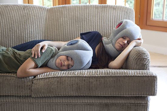 THE OSTRICH PILLOW - What's that thing on your head, It's the Ostrich Pillow and Ostrich Pillow Junior, portable, wearable sleeping devices designed to catch sleep on the go, Or even when you're just at home
