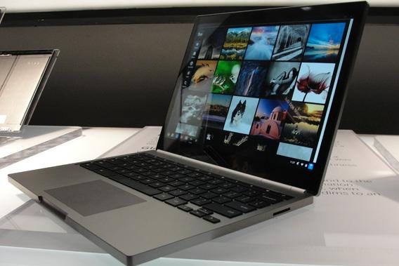 Google's Chromebook uses the Chrome operating system and all applications and user-generated files are stored in the Google cloud ecosystem