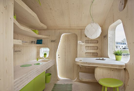 The current space-efficient design, complete with a patio and vaulted sleeping area, lowers standard rent rates by 50%--music to the ears of any economically bereft twentysomething