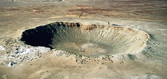 Barringer Meteorite Crater, near Winslow, Arizona, is one of the best known impact craters on planet Earth