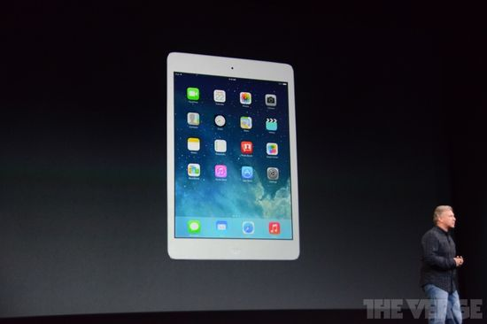 Phil Schiller, Apple V.P. Global Marketing, talks about the new iPad Mini with retina display at the San Francisco unveiling