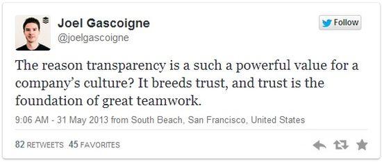 Joel Gascoigne Tweet