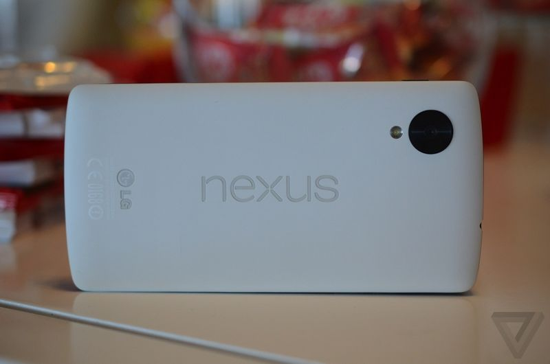 Google's Nexus 5 smartphone backside