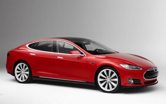 Tesla Motors Model S all-electric sedan