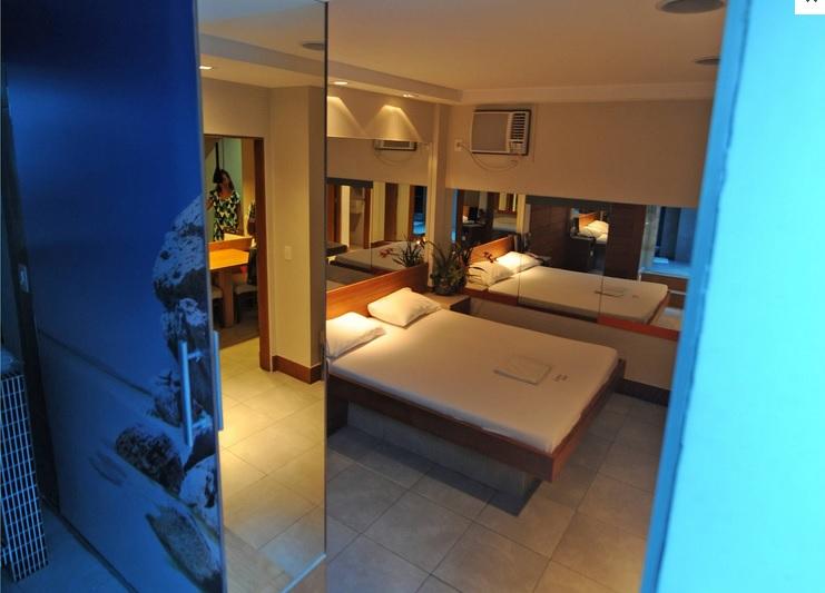 A 'love motel' room in Rio de Janeiro