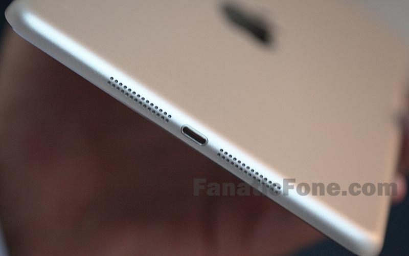 IPad Mini 2 has two stereo speakers located on bottom on both sides of the Lightning connector