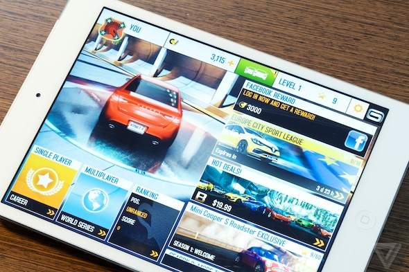 IPad Mini 2's retina display offers an excellent resolution for both images, videos and text