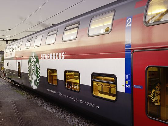 Starbucks has created a business class on trains that costs all of a cup of coffee