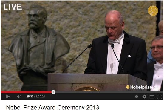 Nobel Prize Award Ceremony 2013