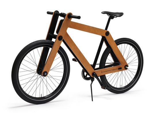 Sandwichbike flat-pack wooden bicycle 2