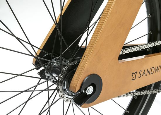 Sandwichbike flat-pack wooden bicycle 5