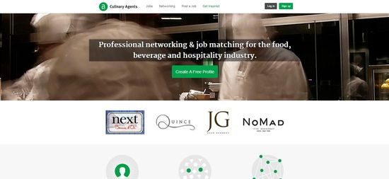 Culinary Agents homepage
