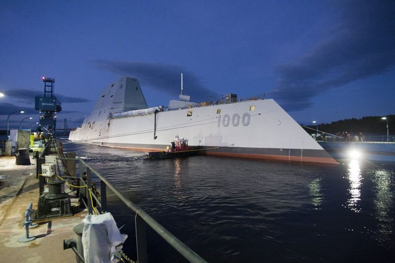 The USS Zumwalt hit the water Oct. 29 and is due to start patrolling by 2014