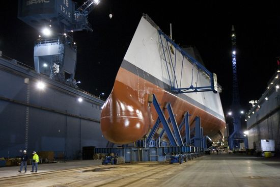 Construction of the ship required General Dynamics to build a special $40 million 'Ultra Hall' to hold the pieces