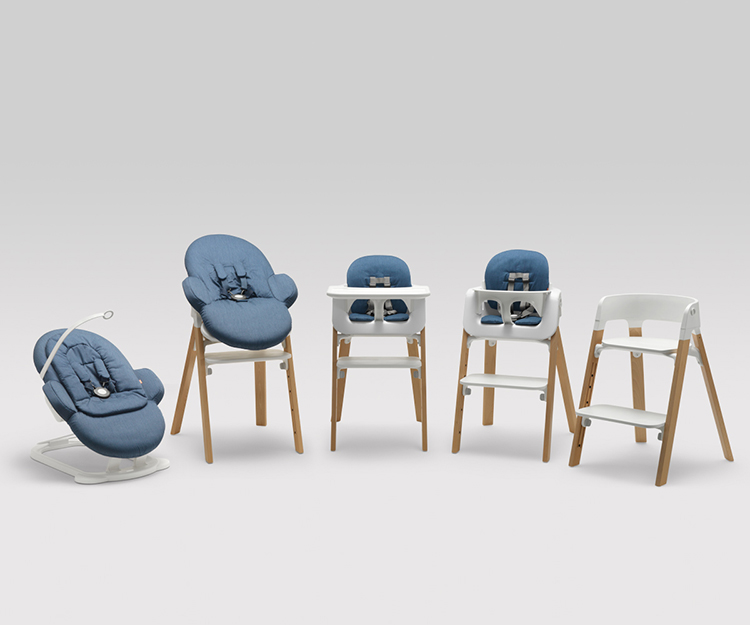 In 1972 a Norwegian company called Stokke built a streamlined children's seating system that could accommodate babies as young as six months, up to kids around six or seven years old