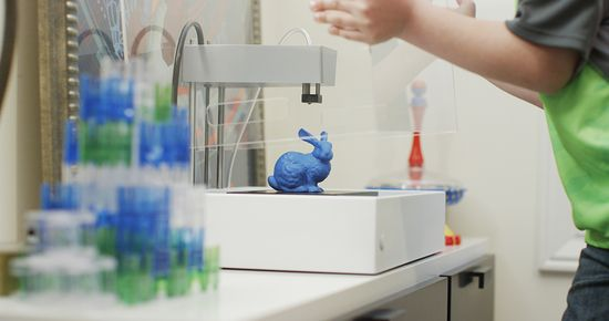 This is the MOD-t. It's a $250 3-D printer, and also the first project of Frog Venture Design