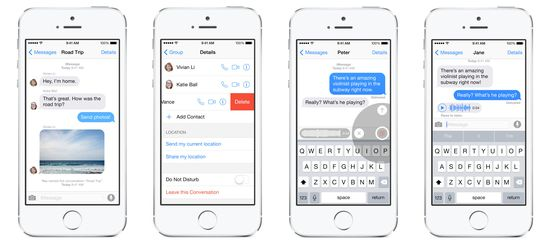 Apple iOS 8 new message features