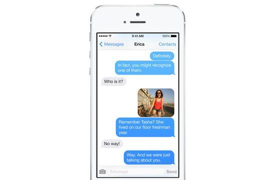 Apple iOS 7 old messaging screenshot