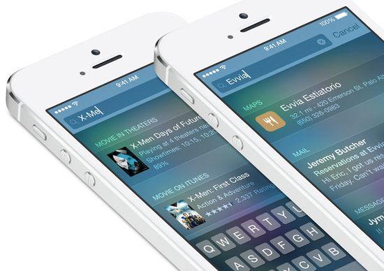 IOS 8 Spotlight includes enhanced search