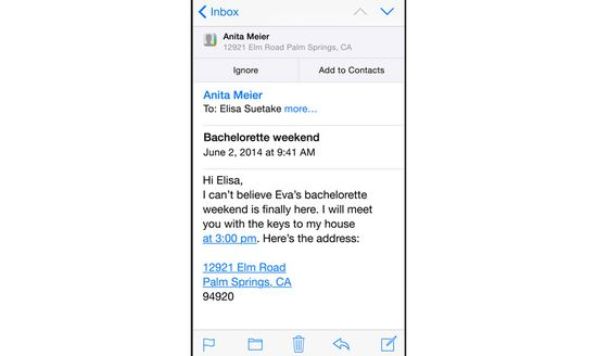 IOS 8 allows users to add new contacts via emails