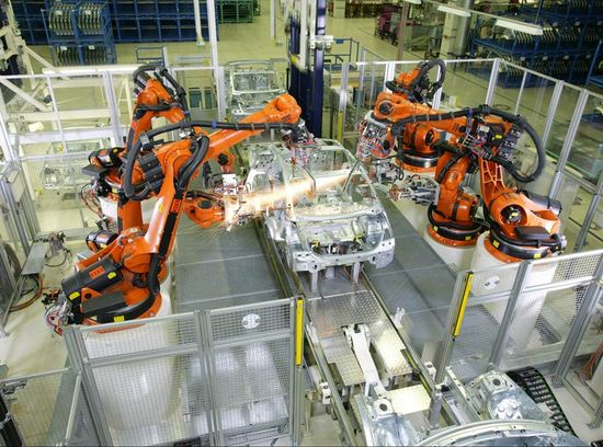 The automotive industry is one of the largest user of industrial robots