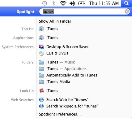Apple OS X Mavericks Spotlight