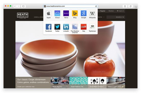 Apple OS X Yosemite Safari browser now comes with a new 'smart search' field