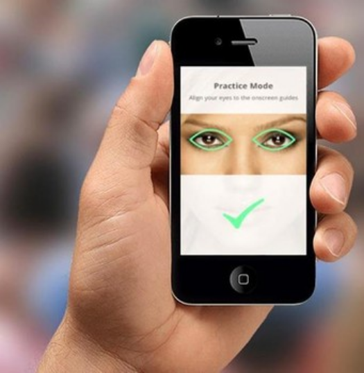 EyeVerify eye scaning software uses the veins in your eyes as a password