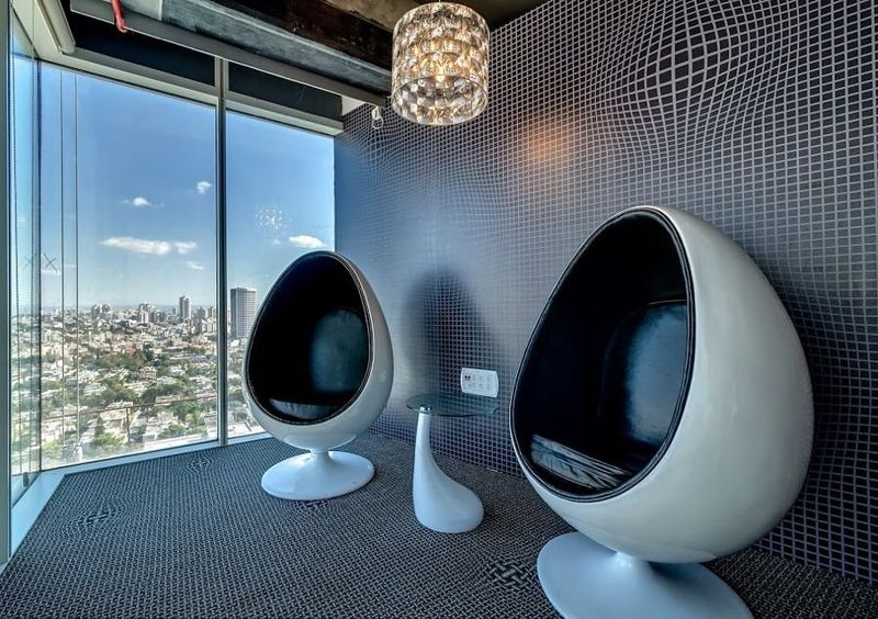 Google Tel Aviv And Of Course There Are Space Age Egg Chairs