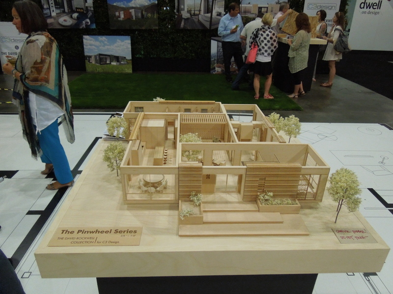 Scale model of a modular home called the Pinwheel series designed by C3 Design and the Rockwell Group that debuted at Dwell on Design 2014 in Los Angels in July 2014 A