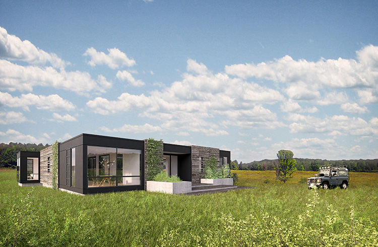 Rockwell has partnered with Fred Carl of the appliance company Viking Range to build the first luxury prefabricated homes for Carl's new modular housing venture, C3 Design, Inc.